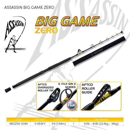 ROD ASS BIG GAME ZERO 50-80LB