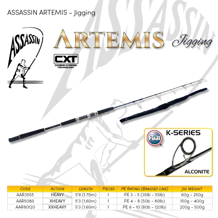 ROD ASS ARTEMIS 5'3 50-80 LB 1PC